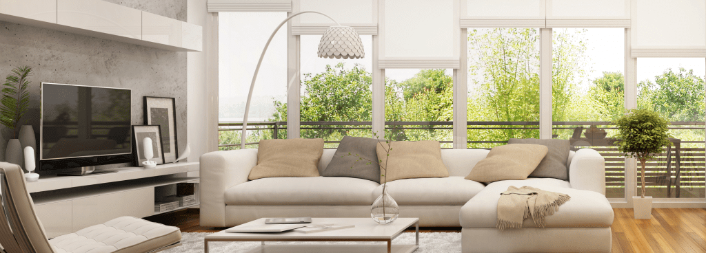 Modern Living Room with Beacon40 lights
